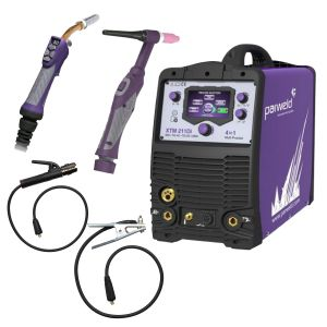 Parweld Xtm211Di-P2 4 In 1 Ac/Dc Package Inc 4M Tig & Mig Torch & Mma Leads